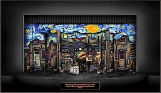 Sean McClelland's set design for Slow Burn Theatre Company's 'Little Shop of Horrors'